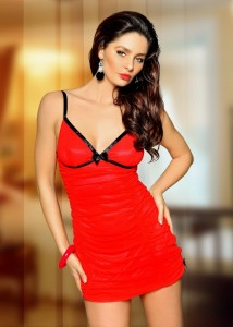 Sexy koszulka Red Temptation 1017  BEAUTY NIGHT Fashion
